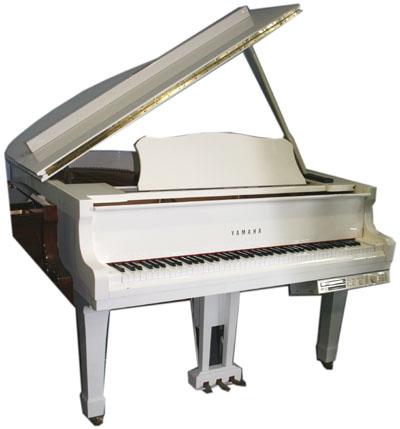 yamaha white grand piano - photo #33